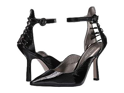 Massimo Matteo Ankle Strap Pump 20 (Black Patent) Women