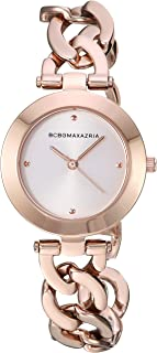BCBGMAXAZRIA Women's Japanese-Quartz Stainless Steel Case Stainless-Steel Strap Casual Watch (Model: BG50695001-04