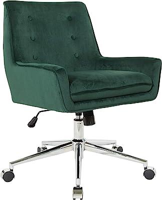 OSP Home Furnishings Quinn Office Chair, Green