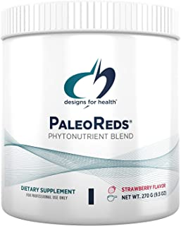 Designs for Health Phytonutrients + Antioxidant Blend Powder - PaleoReds Powder Blend with Whole Fruits, Berry Blend, Vege...