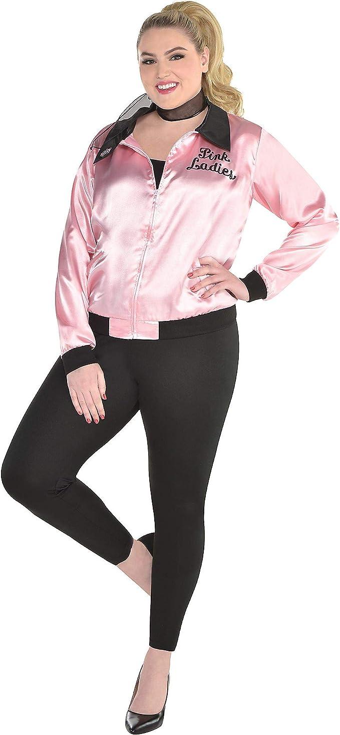 Poodle Skirts | Poodle Skirt Costumes, Patterns, History amscan Grease Lightning Adult Pink Ladies Costume  AT vintagedancer.com