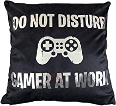 Funny Party Pieces Do Not Disturb Gamer at Work Cushion Cover - Great Gift for A Gaming Fan