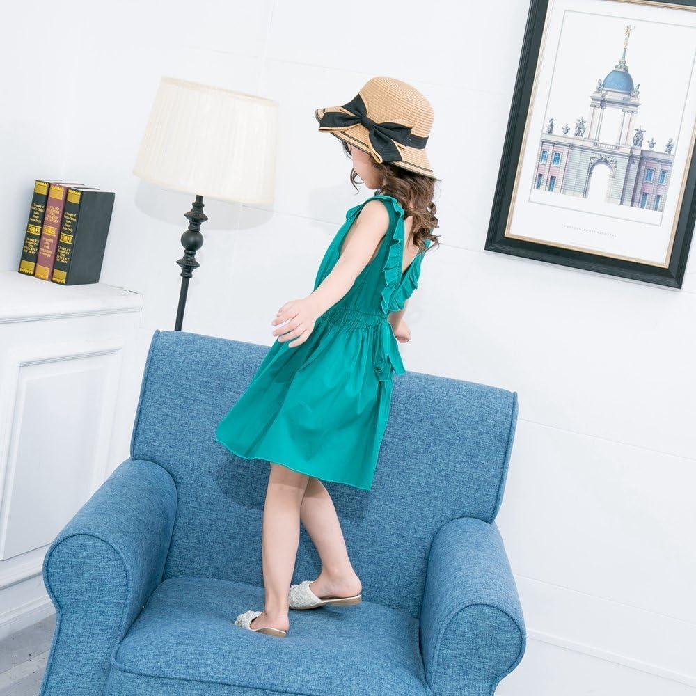 JUXINSU Summer Kids Princess Sleeveless Dresses for Girls Beach Dress Cotton Children Clothes SH616 1-6 Years
