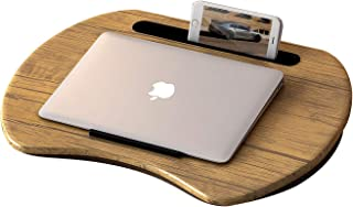 HOME BI Lap Desk for Laptop, Portable Laptop Table with Phone Tablet Holder, Fits up to 15