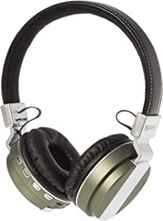 ZAKK Hunter Wireless and Wired Bluetooth Over Ear Headphones Black/Green, Microphone, Hands Free, Supports FM Radio, AUX, ...