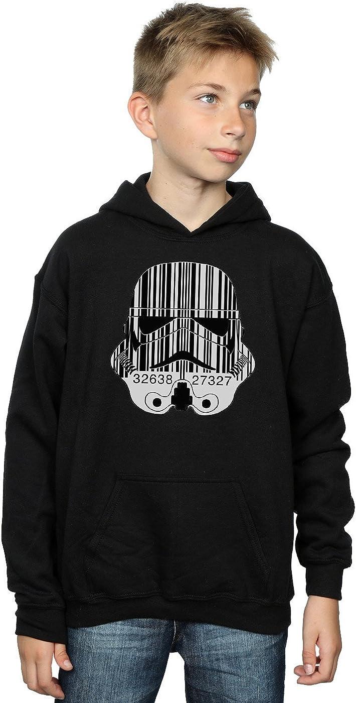 Star Wars Boys Stormtrooper Barcode Helmet Hoodie 9-11 Years Black