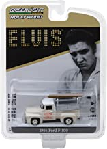 """1954 Ford F-100 Pickup Truck Cream """"Crown Electric Company"""" Elvis Presley (1935-1977) Hollywood Series 20 1/64 Diecast Model Car by Greenlight 44800 B"""