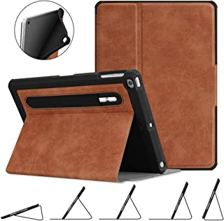 Fintie Case for iPad 9.7 2018 2017 / iPad Air 2 / iPad Air - [Corner Protection] Multi-Angle Viewing Rugged Soft TPU Back Cover with [Secure Pencil Holder] Auto Sleep/Wake, Rustic Brown