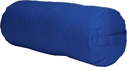 Mind Reader YOGCYL-BLU Bolster/Cushion Restorative, Yin Prop, Meditation Yoga Pillow, Cotton, Machine Washable Cover, 4 Colors, Blue Cylinder