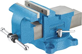 Shop Fox D3250 Bench Vise with Swivel Base, 6-Inch