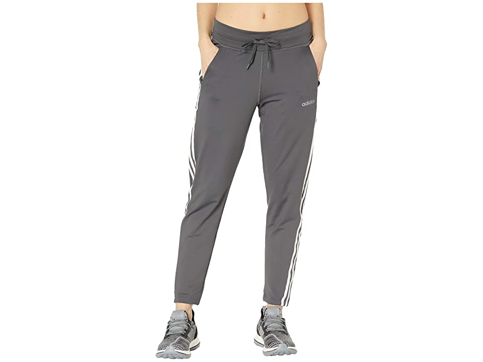 adidas Designed-2-Move 3-Stripes Long Pants (Grey Six) Women's Casual Pants, Gray
