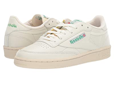 Reebok Lifestyle Club C 85 (Chalk/Glen Green/Paper White/Excellent Red) Women