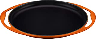 """Le Creuset of America Enameled Cast Iron Sizzle Platter, 12 1/4"""", Flame"""