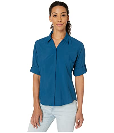 Royal Robbins Expedition Chill Stretch 3/4 Sleeve Top (Harbor) Women