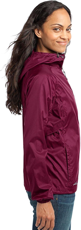 Cherrybrook Black Cherry Dog Breed Embroidered Eddie Bauer Ladies Packable Wind Jacket (All Breeds)
