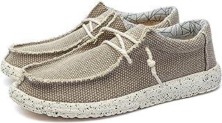 MAIAMY Hommes Chaussures décontractées Chaussures en Toile Basses élégantes et Confortables Chaussures Plates légères Chau...