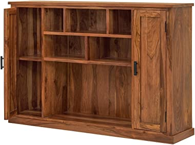 Naturehood Hallway/Living Room Storage Cabinet ✮100% Sheesham Wood Furniture ✮ Finest Polishing in Class (PETRICHOR Collectio