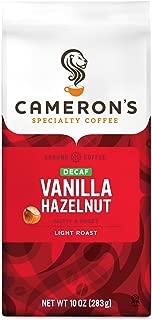 Cameron's Coffee Roasted Ground Coffee Bag, Flavored, Decaf Vanilla Hazelnut, 10 Ounce
