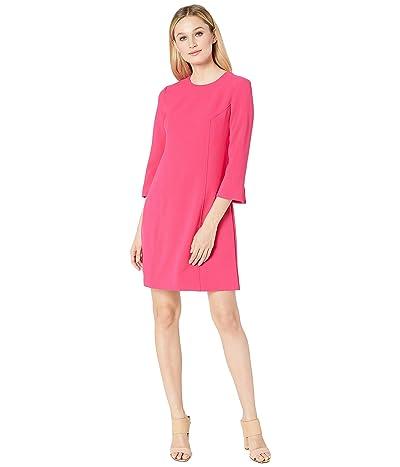 Vince Camuto Kors Crepe Shift w/ 3/4 Sleeve (Hot Pink) Women