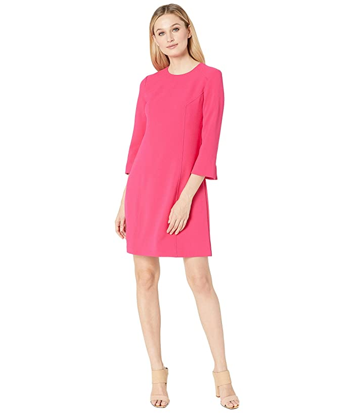 Vince Camuto Kors Crepe Shift w/ 3/4 Sleeve (Hot Pink) Women