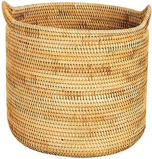 XINYALAMP vietnamienne en rotin Panier Sale ClothesLaundry Panier Vêtements de ménage Lavage de Stockage Barrel Tissage Ca...