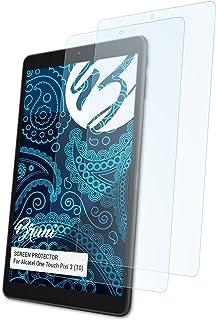 Bruni Película Protectora para Alcatel One Touch Pixi 3 (10) Protector Película, Claro Lámina Protectora (2X)