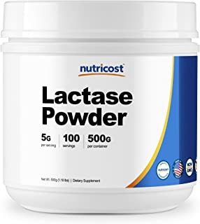 Nutricost Lactase Powder 500 Grams -Non-GMO, Gluten Free, High Quality Lactase Powder
