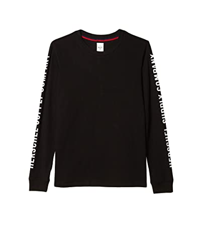 Herschel Supply Co. Long Sleeve Tee (Sleeve Print Black/White) Women