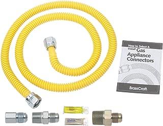 Brasscraft rasscraft PSB1091 Gas Dryer Installation Kit, yellow