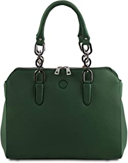 Tuscany Leather - Lilia - Leather Handbag - TL141876 (Forest Green)