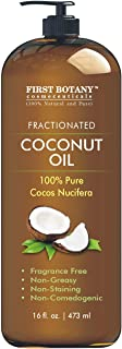 Fractionated Coconut Oil 16 fl. oz - 100% Natural & Pure MCT Coconut Oil for Hair, Skin,and Aromatherapy Carrier Oil, Mass...