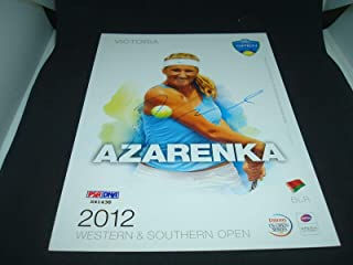 Victoria Azarenka Signed 2012 W&S Open Official Player Card COA Auto. 1B - PSA/DNA Certified - Autographed Tennis Cards