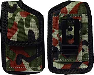 Premium Classic Style Pouch case with Belt Clip for Medtronic Minimed 670G Insulin Pump (vertical/2/Army)