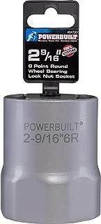 Powerbuilt 647067 2-9/16-Inch 6-Point Rounded Hex Wheel Bearing Locknut Socket