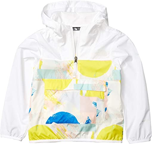 TNF White Geo Brush Print