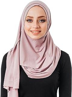 لا يوجد دبابيس ، وشاح رأس قطني ، حجاب فوري ، قطعة واحدة جاهزة لارتداء إكسسوارات الإسلامية للنساء