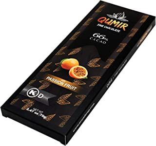 Qumir Fine Dark chocolate | with Passion Fruit | made with amazon arriba cacao beans | 1Bar, 2.47oz
