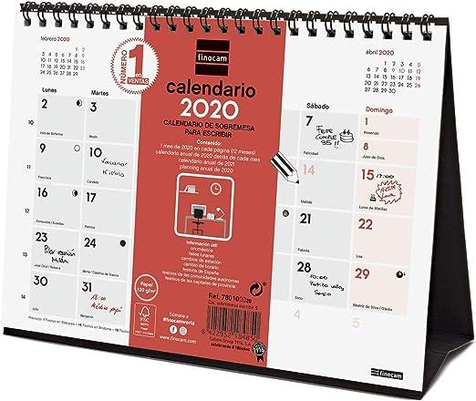 Finocam - Calendario de pared 2020 Escribir portugués: Amazon.es: Oficina y papelería