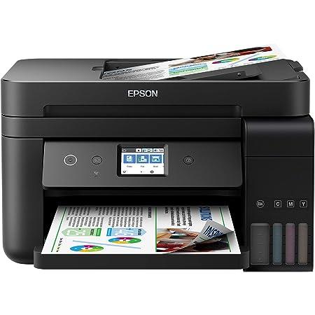 Epson Imprimante EcoTank ET-4750 avec réservoir, Multifonction 4-en-1: Imprimante recto verso/ Scanner/Copieur /Fax, A4, Jet d'encre couleur, Wifi Direct, Ethernet, Ecran tactile, Faible coût par page