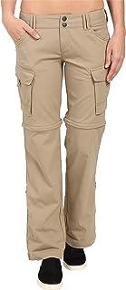 prAna Women's Sage Convertible Pants, Dark Khaki, 0 Reg Inseam