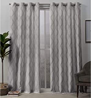 Exclusive Home Curtains Stark Panel Pair, 54x84, Dove Gray