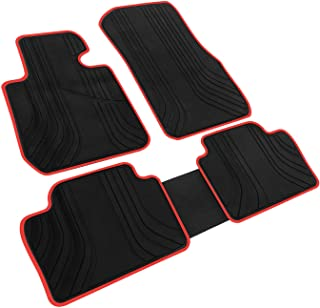iallauto Compatible for BMW 4 Series 2014 2015 2016 2017 2018 Heavy Duty Rubber Front & Rear Floor Mats Liners Vehicle All Weather Guard Black Carpet
