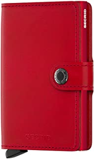 Secrid MINIwallet Original Red-Red Genuine Leather RFID Card Case Max 12 Cards