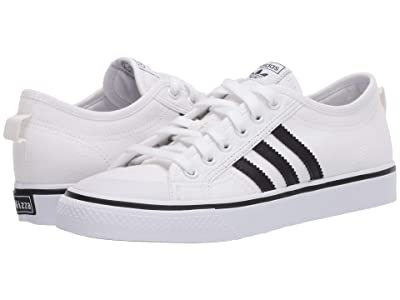 adidas Originals Kids Nizza (Big Kid) (White/Black) Kids Shoes
