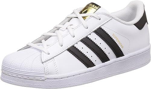 Adidas Superstar Foundatio Sneakers Basses, Mixte Enfant, blanc, M