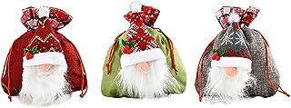 SLDHFE Sac à bonbons de Noël avec cordon de serrage, 21,1 x 24,9 cm, sac à friandises de Noël, petit sac pour emballage de...