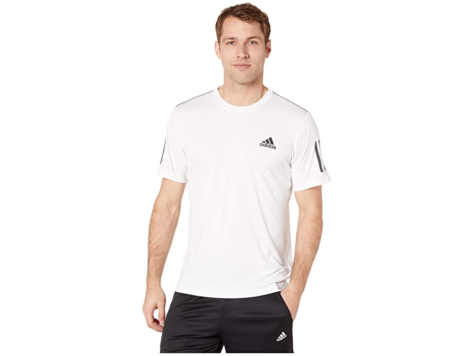 adidas Club 3-Stripes Tee (White/Black) Men