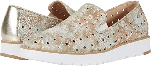 Taupe Snake Print Suede