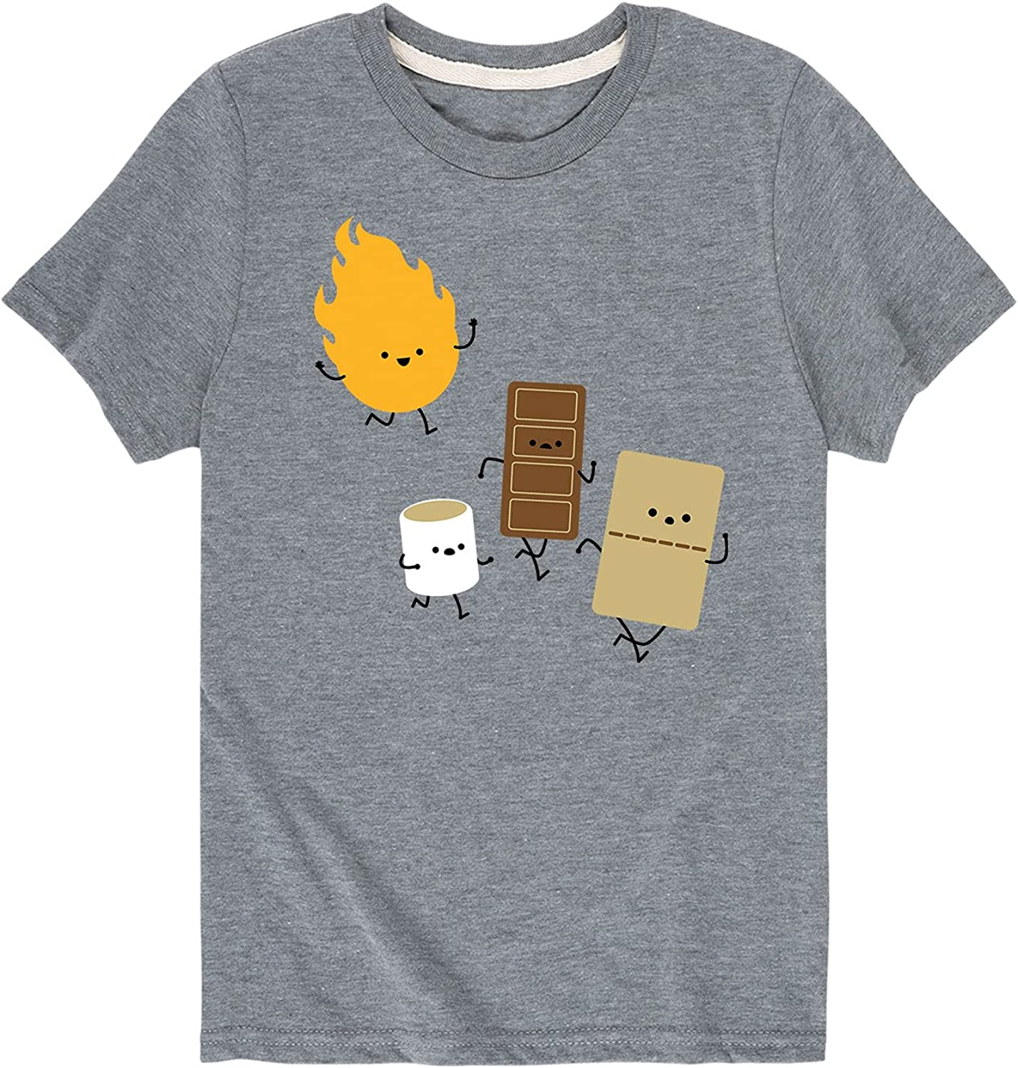 Instant Message Fire and Smore - Toddler and Youth Short Sleeve Graphic T-Shirt