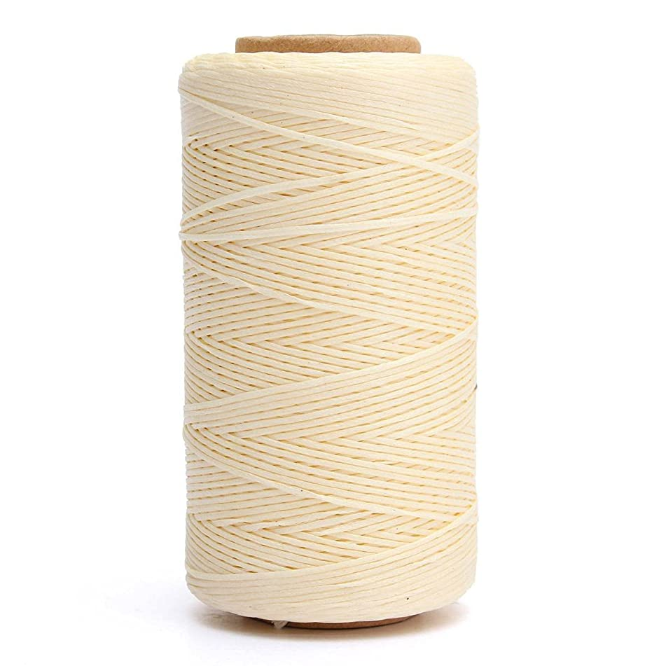 KINGSO 284 Yards Leather Sewing Waxed Thread DIY Craft Beige